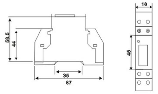 medidor de energ u00eda monof u00e1sico de carril din dds238